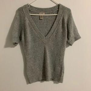 Cozy V Neck Grey Sweater